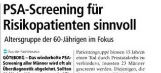 PSA-Screening; Medical Tribune 18/2014