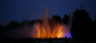 """Wasserlichtkonzert im Hamburger Park """"Planten un Blomen"""" am 15.07.2013"""