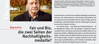 Fair und Bio, die zwei Seiten der Nachhaltigkeitsmedaille?