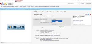 eBay: Angeblich werden die Domains kinox.to, television.to und movie4k.to verkauft