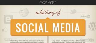 Social Media Historie [Infografik]