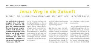 "Jenas Weg in die Zukunft. Projekt ""Bioenergieregion Jena-Saale-Holzland"" geht in zweite Runde"