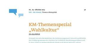 "KM-Themenspezial ""Wahlkultur"". Ein Rückblick"