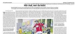 Hör mal, wer da kickt - Süddeutsche Zeitung
