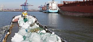 Illegale Entsorgung - Müll über Bord
