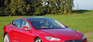 AZ-Autotest : Tesla Model S - elektrisch in die Zukunft - Abendzeitung München