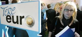 Euro-Einführung: Die Esten nehmen Abschied von der Krone - Euro-Einführung