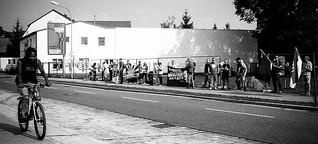 Neonazi-Protest gegen Asylbewerberheim
