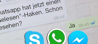 WhatsApp mit neuer Lesebestätigung: Wird bei Facebook, Skype & Co. stressfrei gechattet?