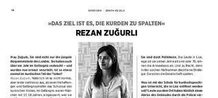 """Rezan Zuğurlı: """"Das Ziel ist es, die Kurden zu spalten"""""""