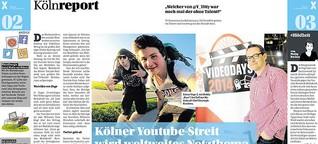 Report über Youtube-Streit