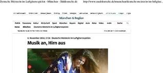 Deutsche Meisterin der Luftgitarre:  Musik an, Hirn aus