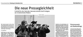 Die neue Pressegleichheit