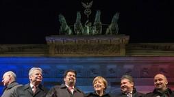 Mahnwache in Berlin. Anschläge von Paris - Zeichen gegen den Terror