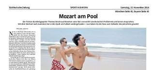 Mozart am Pool