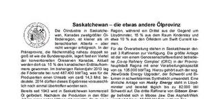 Saskatchewan - die etwas andere Ölprovinz