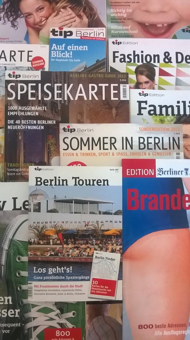 Stadtmagazin tip Berlin, tip Edition, tip Speisekarte, Edition Berliner Zeitung