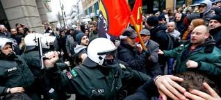 Hunderte Extremisten in Wuppertal, Polizei stoppt Pegida-Kundgebung