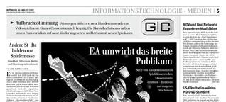 EA umwirbt das breite Publikum / FTD / 22.8.07