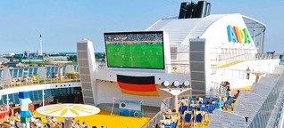 Kreuzfahrtschiffe und Ferienhotels mit Live-Übertragungen: Hier können Sie auch im Urlaub Fußball gucken - Kreuzfahrten