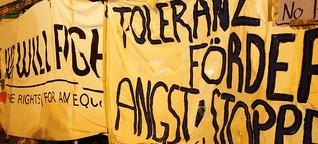 Dresden: Räumung von Protestcamps nach Angriffen von PEGIDA (Zeit-Online)
