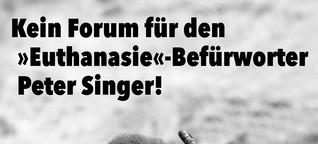 Den Peter-Singer-Preis erhält…Peter Singer!