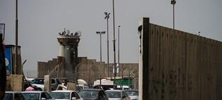 Darauf müssen sich Palästinenser gefasst machen, wenn sie eine Grenze überqueren