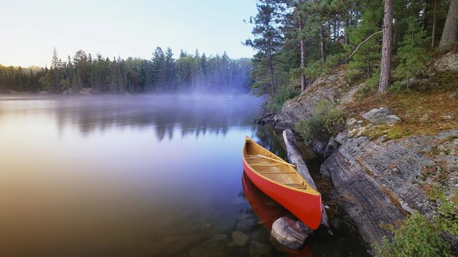 The long canoe