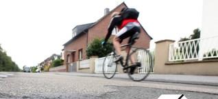 Mitten in der Radfahrer-Hölle