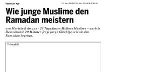 Wie junge Muslime den Ramadan meistern
