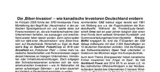 Die 'Biber-Invasion' - wie kanadische Investoren Deutschland erobern