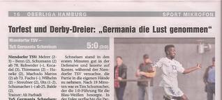 """Torfest und Derby-Dreier: """"Germania die Lust genommen"""""""