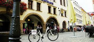 München mit dem Elektrorad - Kunst und Coolness