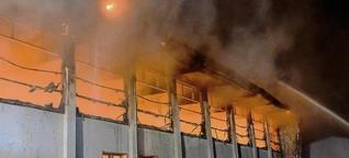 Brandstifter haben wohl Gas in Turnhalle Nauen geleitet