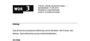 Palmetshofer-Premiere am Landestheater Neuss