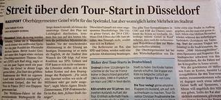 Streit über den Tour-Start in Düsseldorf