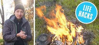 Life Hacks: Feuer machen, wenn Streichhölzer und Feuerzeug versagen - Lifehacks | STERN.de