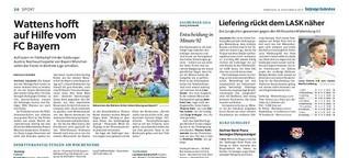 Wattens hofft auf Hilfe vom FC Bayern