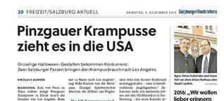 Pinzgauer Krampusse zieht es in die USA