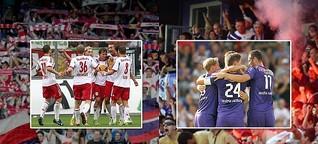 Wer ist die wahre Austria? Violette und Bullen feiern 80er