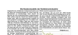 Die Kostenmodelle der Goldminenindustrie