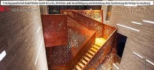 Villa Mallorca: Treppe aus Kupfer und Licht