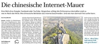 Der Kampf gegen die chinesische Internet-Mauer