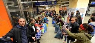 Video-Update: Grenzenlose Hilfsbereitschaft für Flüchtlinge am Hauptbahnhof: Danke Dortmund - Du bist großartig!