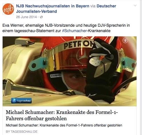 Tagesschau-Statement zum Diebstahl von Michael Schumachers Krankenakte / 24.6.2014
