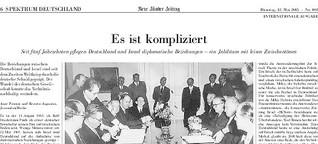 Deutsch-Israelische Beziehungen: Es ist kompliziert