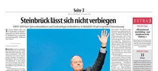 Steinbrück lässt sich nicht verbiegen
