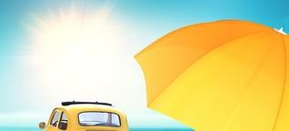 Sonnencreme beschädigt im Urlaub Autos