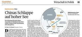 Chinas Schlappe auf hoher See
