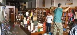 Buchhandlung gestürmt